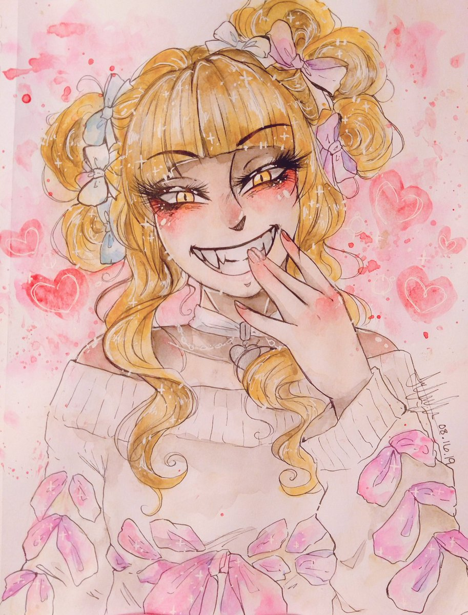 I haven't water colored in a bit so here's anothee Togg I did in between work   #toga #HimikoToga #bnha #mha #BokuNoHeroAcademia #MyHeroAcademia #bnafanart #mhafanart<br>http://pic.twitter.com/2LD7zfLSnm