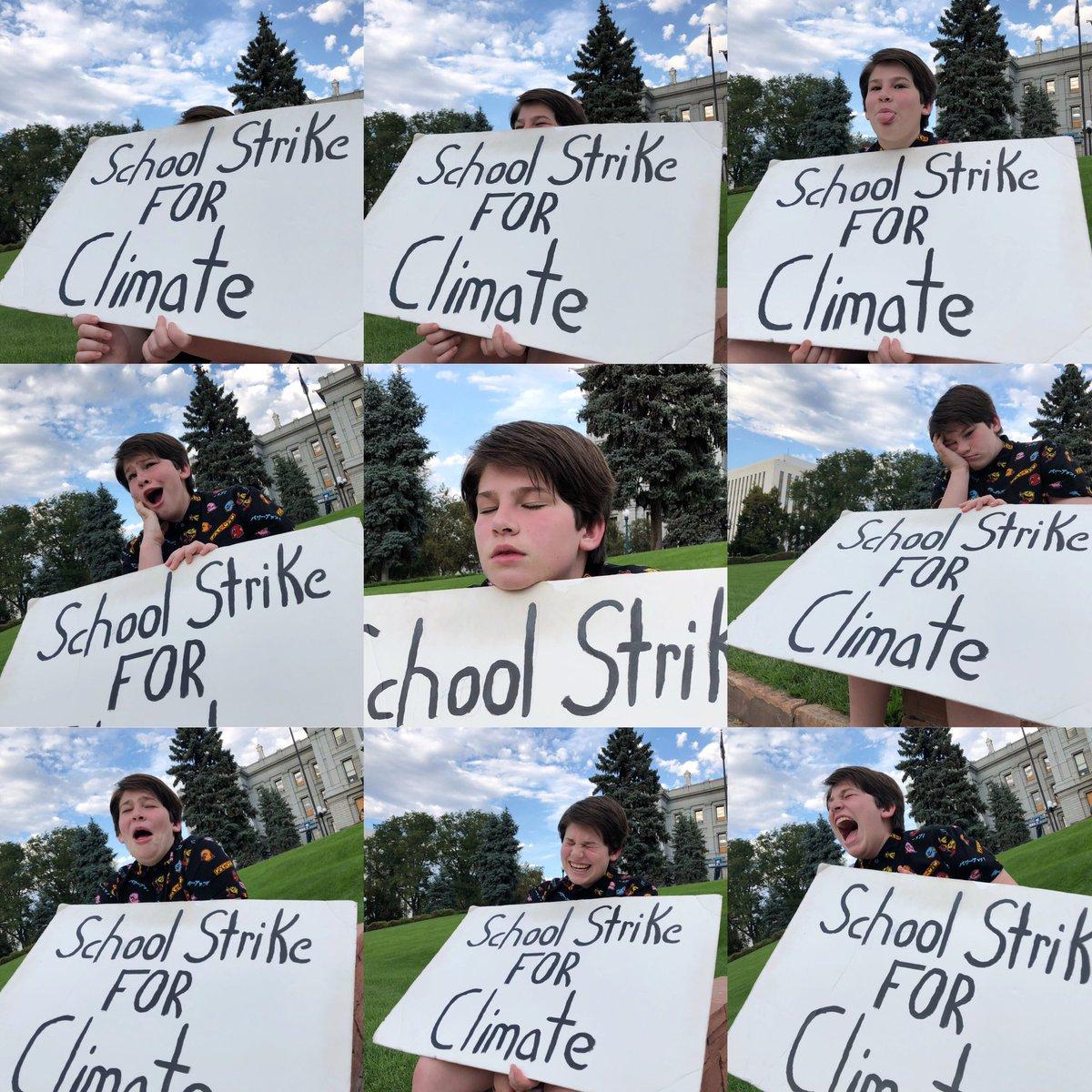I fell asleep at my #ClimateStrike today!    #FridaysForFuture @FFF_USA @Fridays4future @GretaThunberg<br>http://pic.twitter.com/k1s3d73FEn