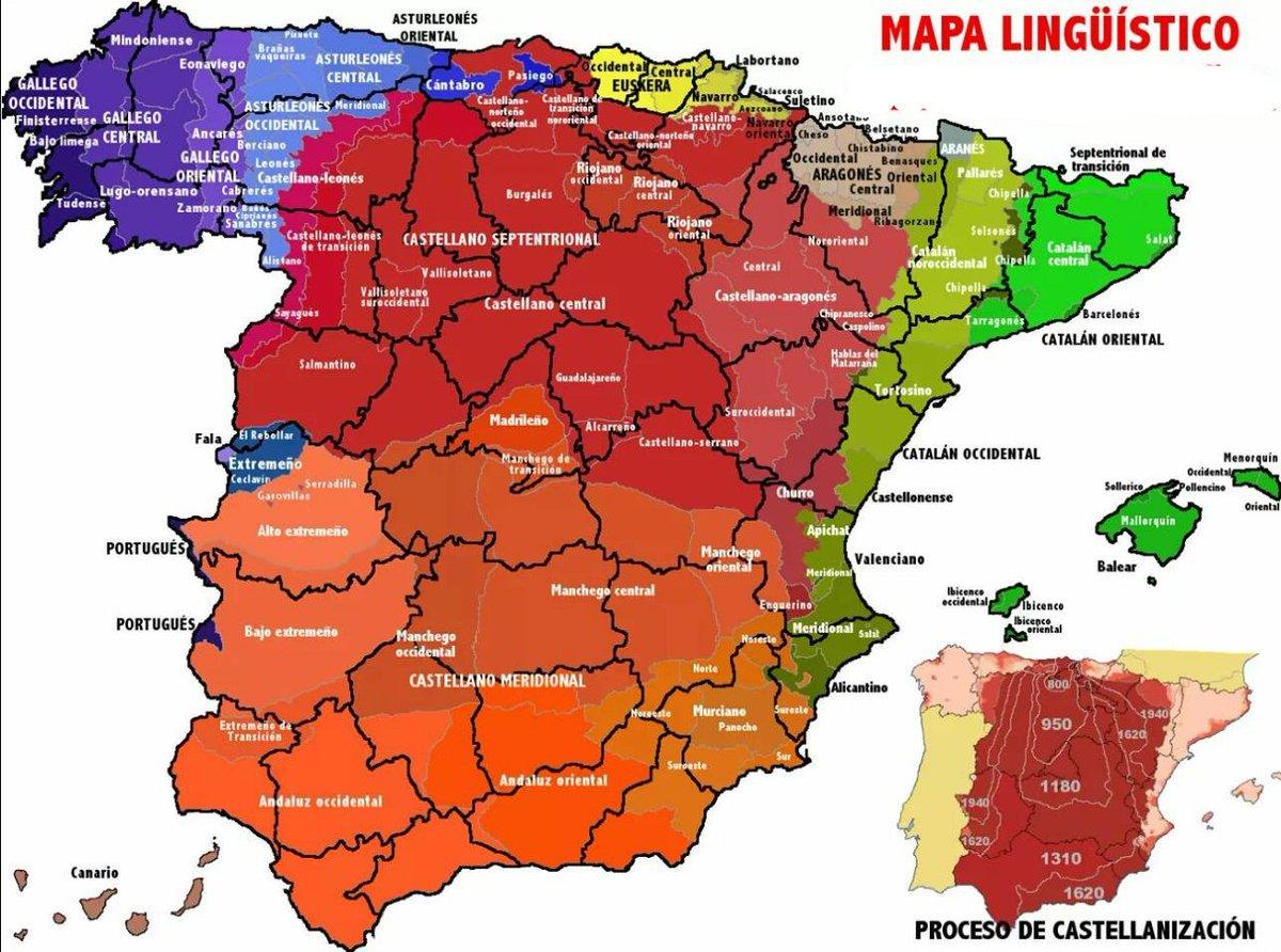 Mapa Lenguas De España.Ismael Pena Lopez On Twitter Bonito Mapa De Lenguas Y