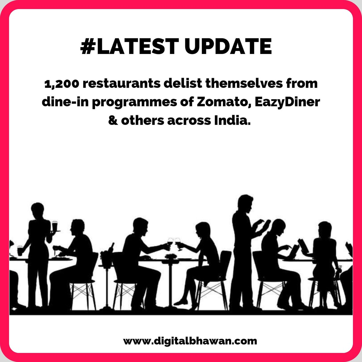 """The restaurants in Mumbai, Delhi, Bengaluru exited platforms including Zomato, EazyDiner, Nearbuy, MagicPin and Gourmet Passport under a #Logout campaign, claiming that """"unsustainable"""" deep discounting and table reservation services was hurting their business models. #UPDATE<br>http://pic.twitter.com/um5EnGWWeR"""