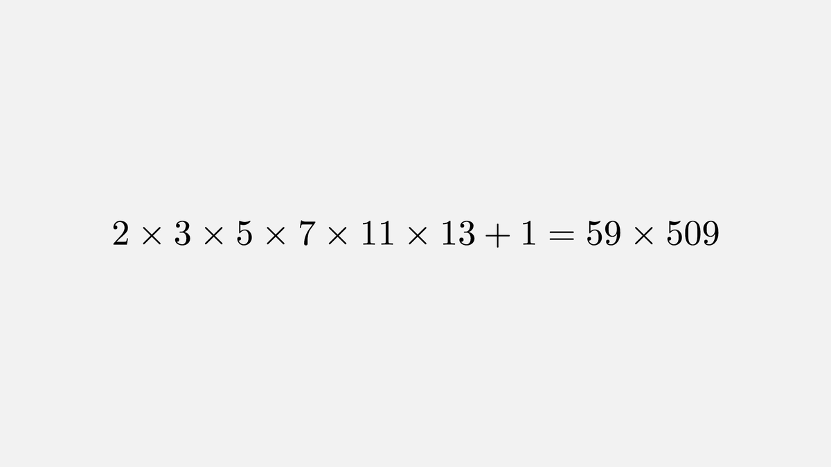 Here's a popular math misconception: the product of the first N primes + 1 is not necessarily a prime itself