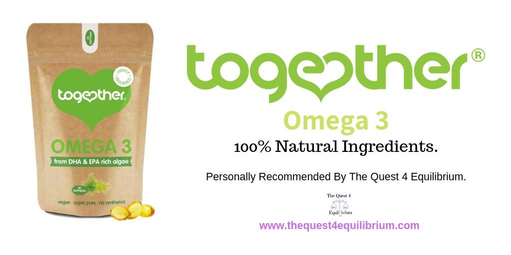 I personally recommend together omega 3. I have found it has greatly helped with my anxiety and helped reduce my panic attacks! #anxiety #panicattacks #omega3 #Together #mentalhealth #health #Wellbeing https://www.thequest4equilibrium.com/tried-tested