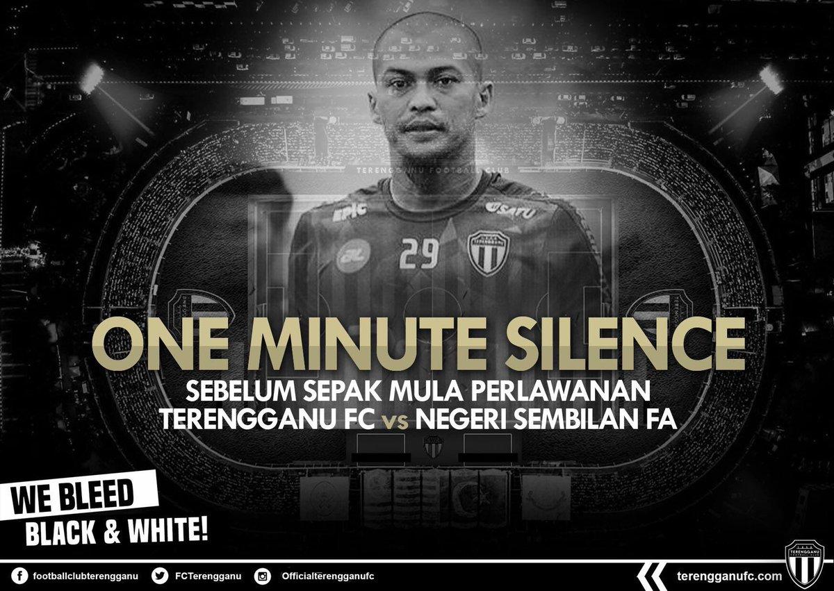 ONE MINUTE SILENCE SEBELUM SEPAK MULA PADA MALAM INI INSYALLAH SEMANGAT JUANG ALLAHYARHAM SUFFIAN RAHMAN TETAP MENJIWAI RAKAN-RAKAN SEPASUKAN DALAM MENERUSKAN PERJUANGAN PASUKAN PADA MALAM INI! #TerengganuFC #WeBleedBlackAndWhite