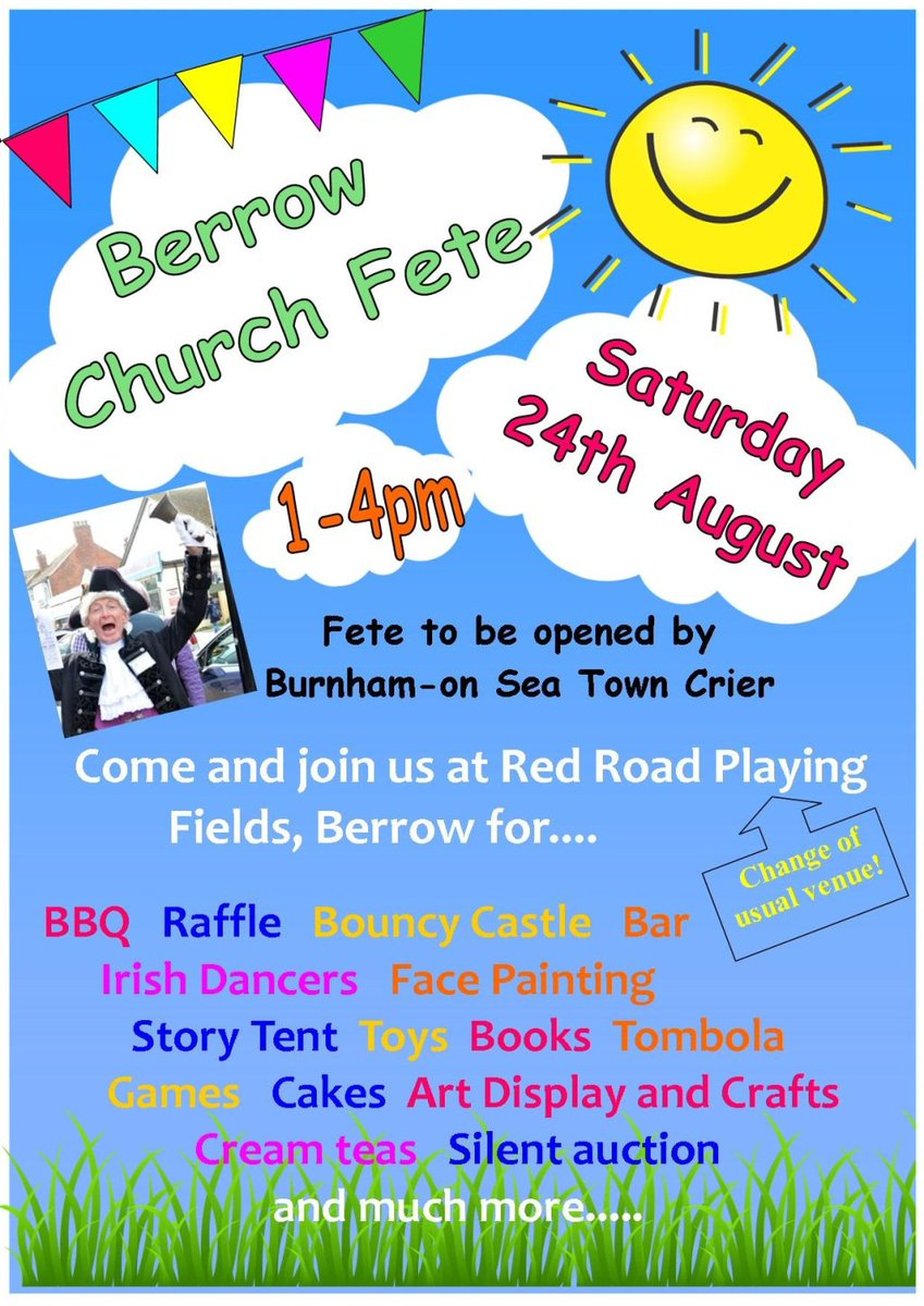 St Mary's fete next weekend http://berrowandbrean.co.uk/2019/08/17/st-marys-fete-next-weekend/ …