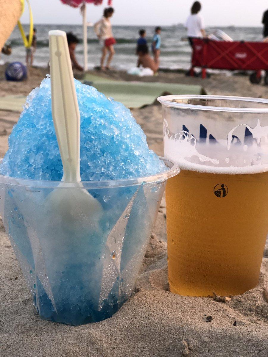 会長達と今年初花火🎆  ビールとかき氷は合いません🙅♂️