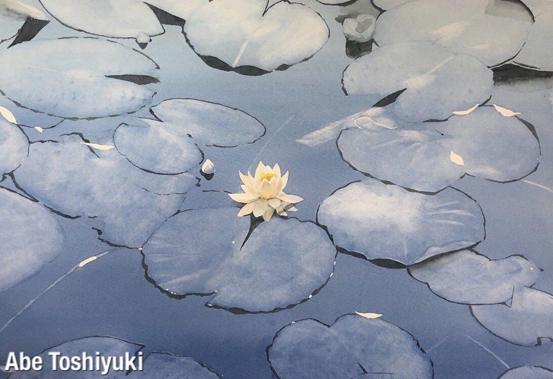 制作途中の水彩画です。#透明水彩