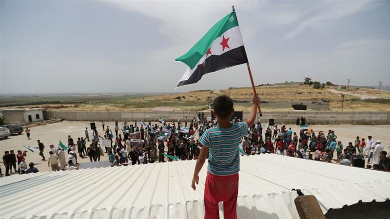 At least 13 people killed after an air raid hit in the south of Idlib, Syria aje.io/7pz9q