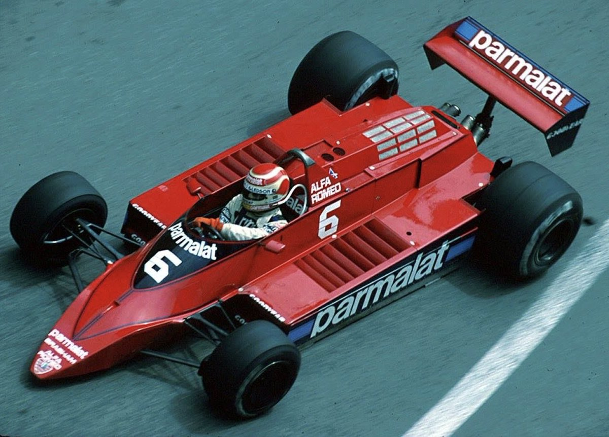 #HappyBirthday Nelson Piquet, 67. Piquet won 3 world championships & 23 GPs, but in my view the most beautiful #F1 car he ever raced was perhaps the least successful: the '79 Brabham BT48, resplendent in scarlet Parmalat livery & powered by a wonderfully sonorous Alfa V12 engine.