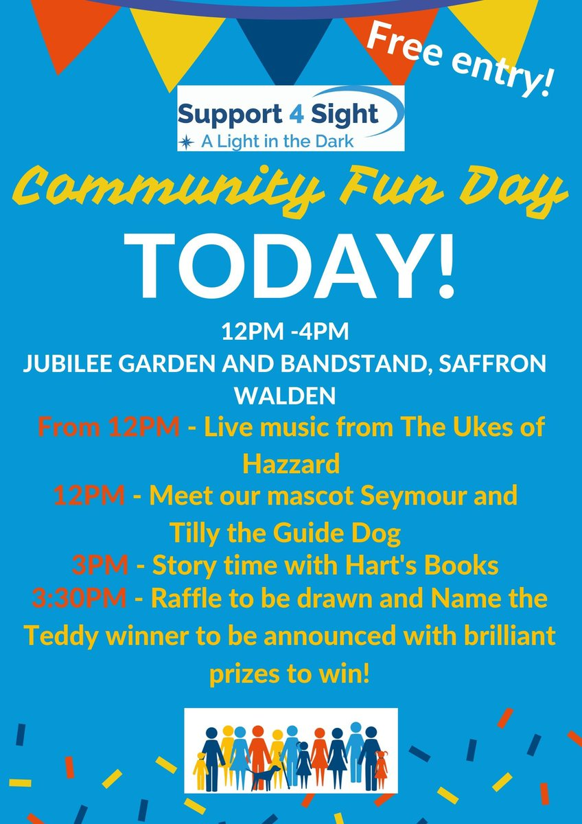 Today is the day! It's the day of our Community Fun Day! There will be Face Painting, Raffles, Games, Magician and Balloon Artist and not forgetting the all important bacon rolls! We will be at Jubilee Gardens from 12pm-4pm and most importantly, free entry! #saffronwalden <br>http://pic.twitter.com/99wzRH1Qru