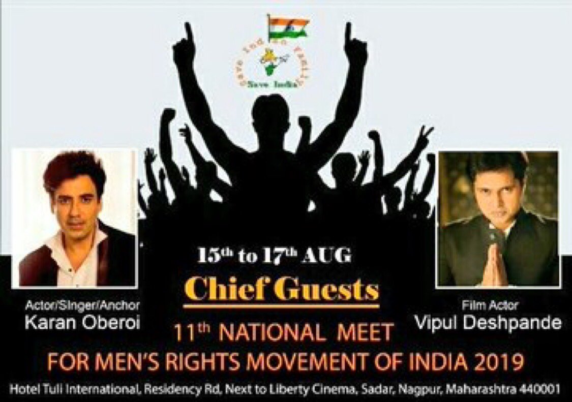 Finally the stage has been set for the 11th #MensRightsMeet2019 at Nagpur organised by  @sifngp 50+ NGOs across India joining hands together to discuss men's issues at large. #11thNationalMeet  #MenToo talks about real equality & neutrality. He demands #MensCommission