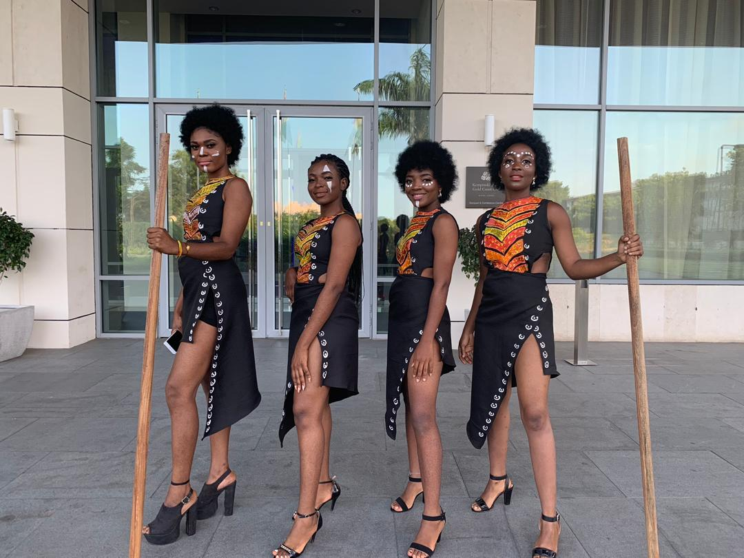 Check out @aoqueens at the launch of @itelMobileGhana 's new and sleek S15 and S15 Pro. We went hard and we worked hard. #WakandaStyle.  We are only a call away on 0264457928. Trust us with your ushering. #ushers #eventushers #SaturdayMorning #OngaJollofBattle<br>http://pic.twitter.com/DFABRseJoR