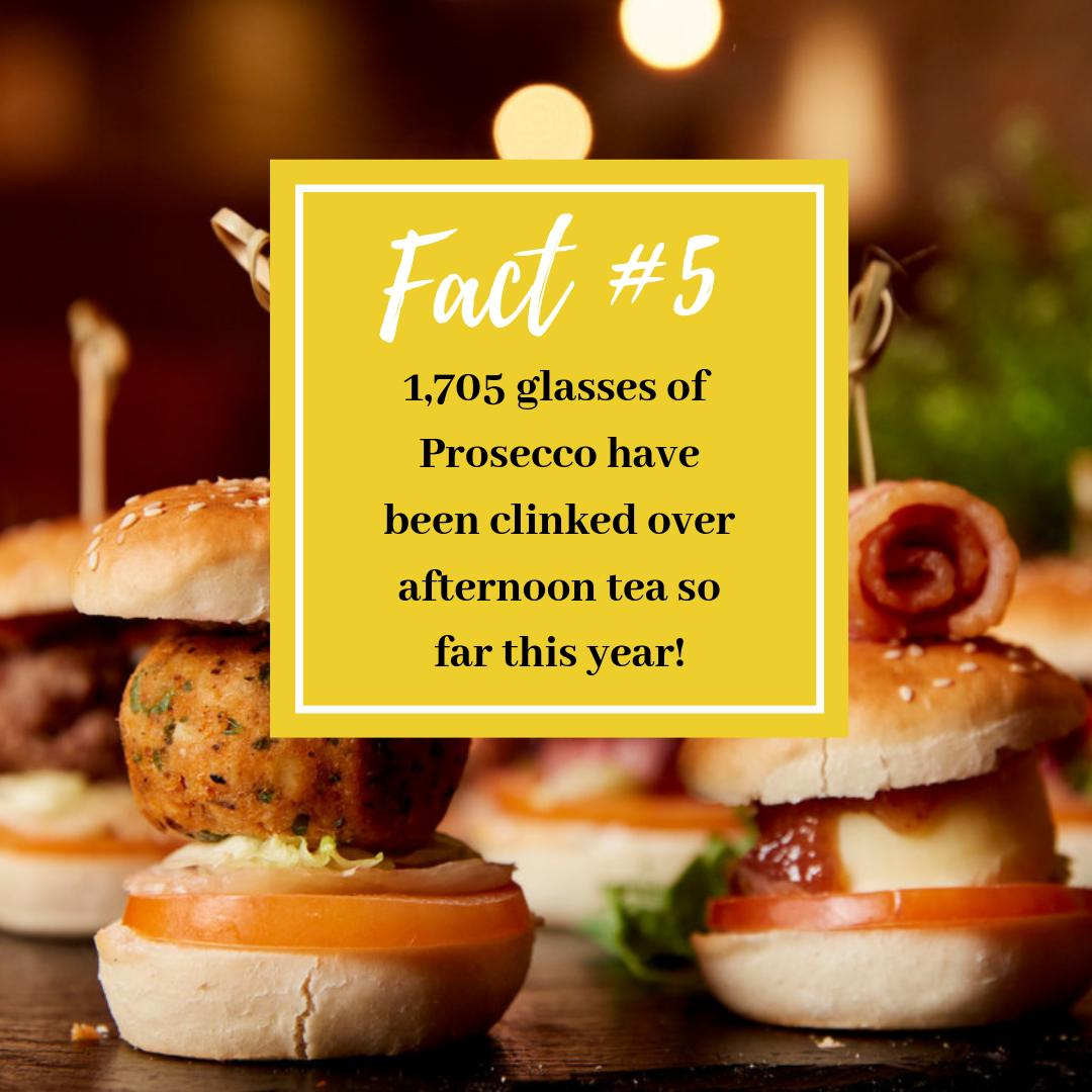 #AfternoonTeaWeek Fact #5 ☕Sometimes it's nice to add extra sparkle to an afternoon tea, we're glad 11,705 of you agree too! 🥂Enjoy 20% off the Resort, Mulberry Bar or Slider Afternoon Tea until 18th August with code TEA20 - http://bit.ly/306sJqU