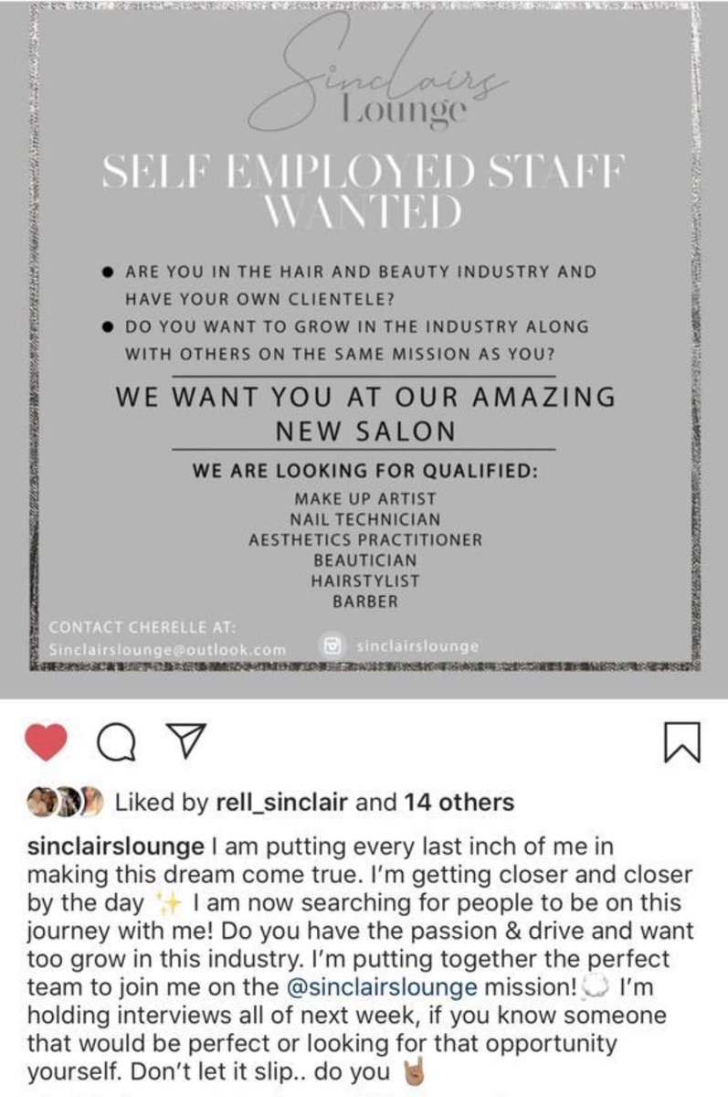 Job opportunity, please read and use contact below if your interested in being a part of this exciting new Salon coming soon to the North West.