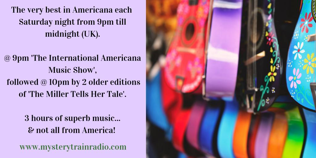 Saturday 9PM (UK) its #Americana time! Michael Park back from his hols & tonight sharing older Americana & Karen Miller from 10PM with 2 vintage editions of The Miller Tells Her Tale (songs from America & beyond) - @ mysterytrainradio.com/listen or @tunein @ tunein.com/radio/Mystery-…