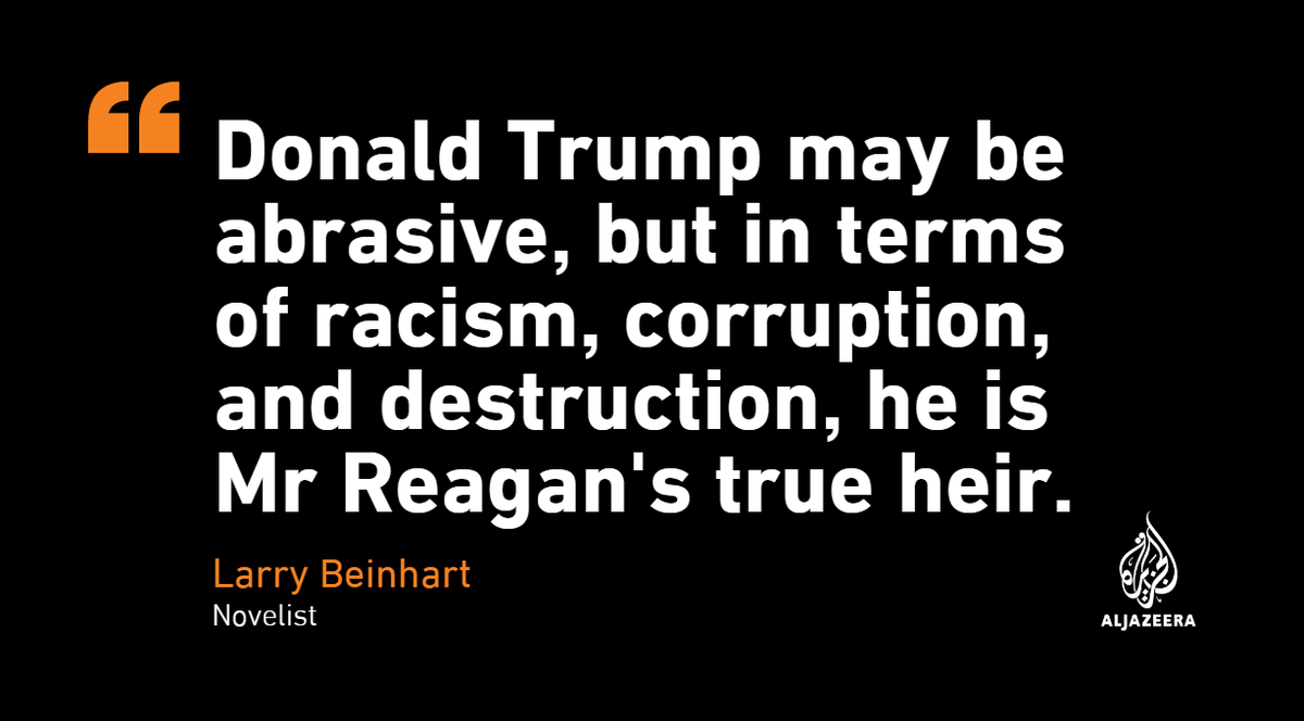 Just how different is Donald Trumps presidency from Ronald Reagans? aje.io/plyas — #AJOpinion, by @LarryBeinhart