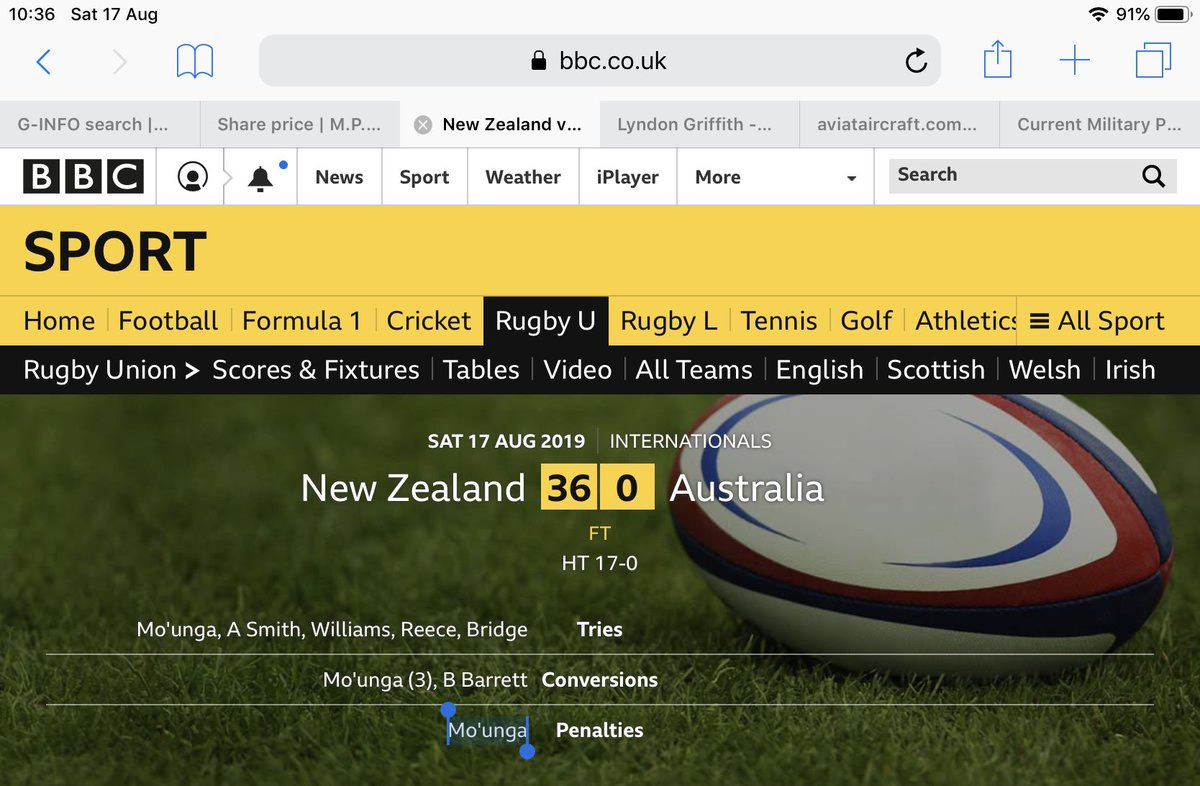 Now I'm looking forward to the RWC, after suffering a distraught past week😂💥 @FlyAirNZ @KiwiPilotBloke @airnzuk #RugbyWorldCup