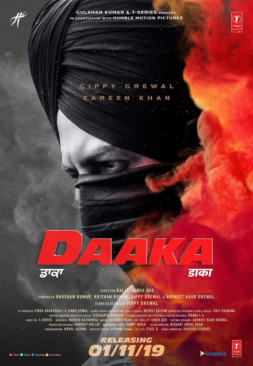 Watch out ! 💕🔥💫 #Daaka on 01.11.2019 @GippyGrewal @zareen_khan @itsBhushanKumar @TSeries #Punjabi @BaljeetDeo