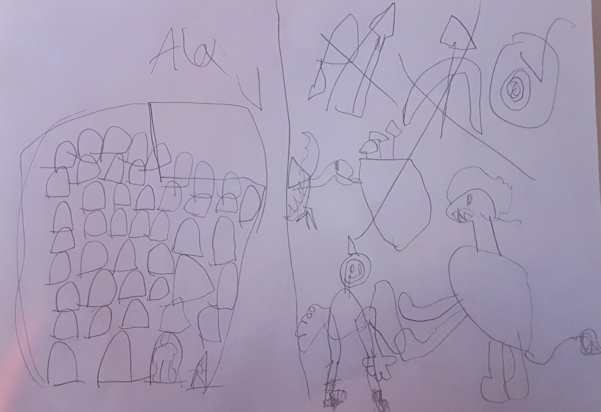 Alex (6) just had an idea to rebuild the missing parts of the #Colosseum @ParcoColosseo and resume games, good ones though, with well trained lions and tigers, no gladium, no arrows and no killing; just shields Very important that they can still be called gladiators 😅