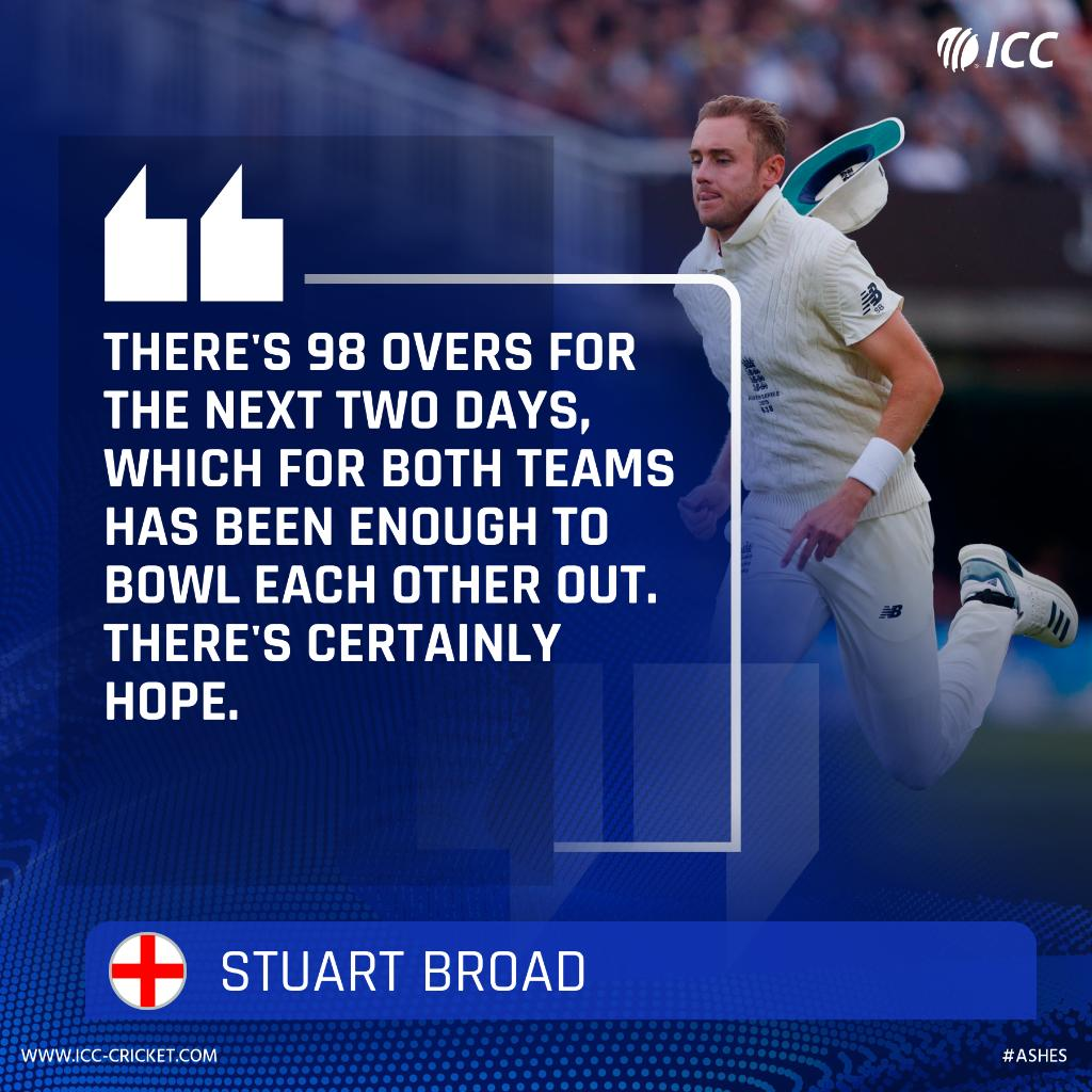 Five sessions of play have been lost to rain in the Lords Test, but Stuart Broad isnt ruling out the possibility of a result. 👀 #Ashes LIVE ⬇️ bit.ly/Eng-v-Aus2