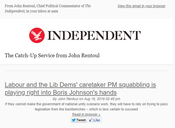 Sign up here if you want morning email alerts after I've posted something on @Independent eepurl.com/bRoeFv
