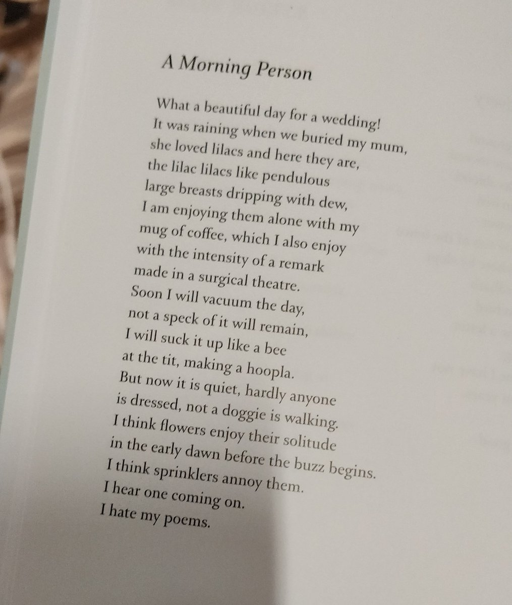 test Twitter Media - RT @micklemccann: 💐 I hear one coming on. — Mary Ruefle in most recent Poetry Review 💐 @PoetrySociety https://t.co/WSLD4fqWex