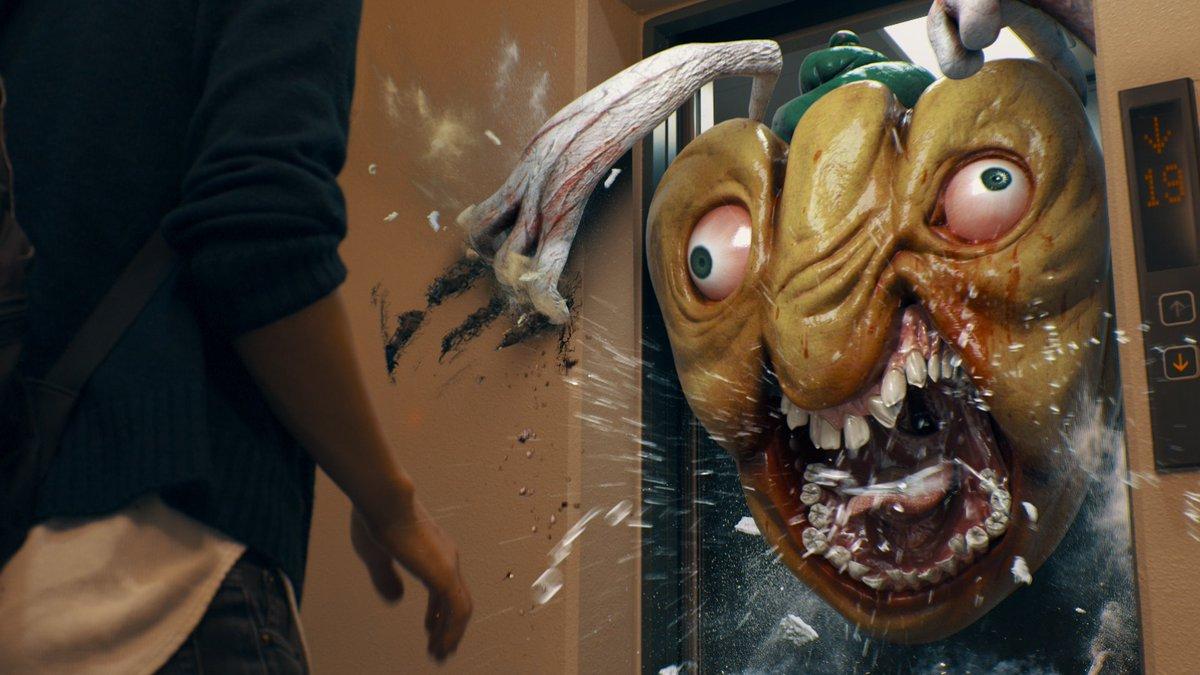 エレベーターに怪物しか乗ってなくて降りれない新作です。これぞジャパニーズホラーの真骨頂