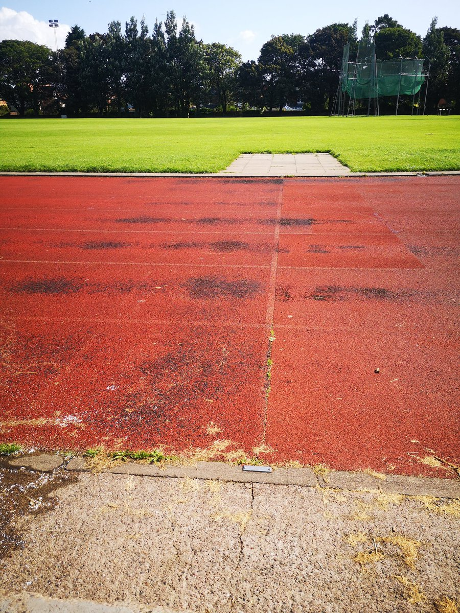 @NTCouncilTeam it's so sad to see the state of the track at Churchill. Taped up in some places. It's such a fantastic facility it can't be left to go in a state of disrepair. #running #getinspired