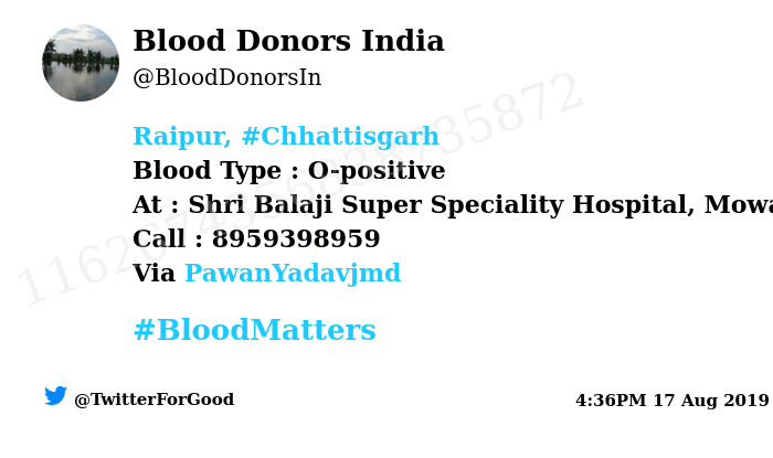 Blood Donors India on Twitter: