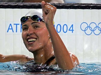 #OTD at the 2004 #Athens Games Yana Klochkova of #Ukraine won 200m IM - wrapping up the 200/400m medley doubleFor more #OTD events from #Olympic history 👉http://bit.ly/2KC97FC#SportHistory#Swimming#Olympics