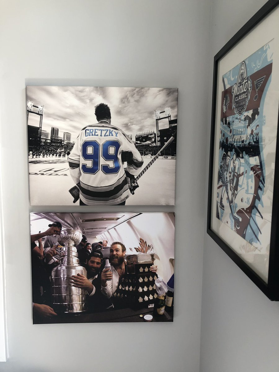 @patmaroon forever on the wall of the studio!! Way to go!!!! #letsgoblues