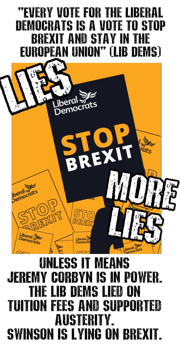 The Lib Dems dont want to stop Brexit.