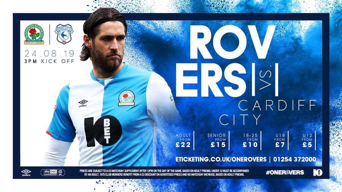 @HullCity 🎟️ Then were back at Ewood Park a week today for the visit of @CardiffCityFC. Season Tickets: ➡️ eticketing.co.uk/onerovers #Rovers 🔵⚪️