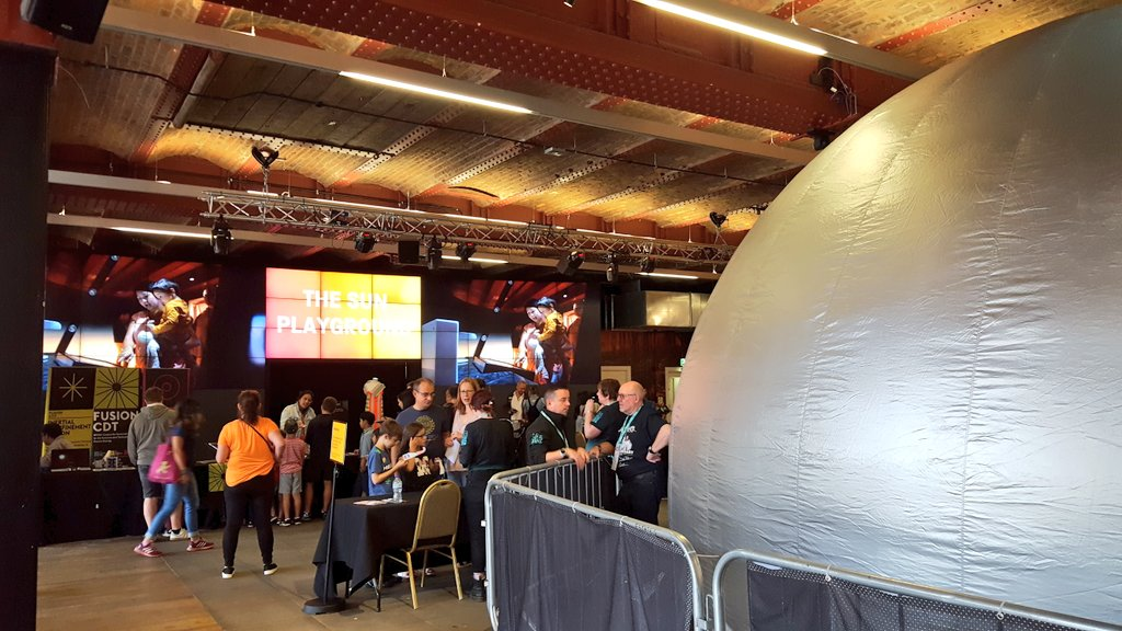 The Sun family playground @sim_manchester has inspired the sun to come out in Manchester! Head over to the museum for free hands on solar activities and enter our wonderdome this weekend only. 🌞 #summeroffun #familyfun