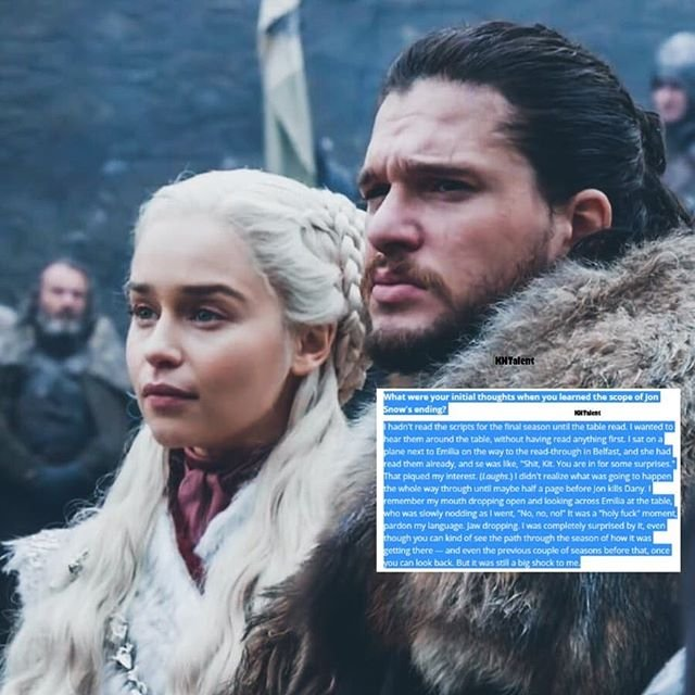 #kitharington's new interview: intelligent, funny, emotional, lovely with his castmates (as always), NO D&D (Thanks, Kit!)Yes, he has an opinion, everybody have one, he has more right than anyone to defend #JonSnow   https://www. hollywoodreporter.com/lists/emmys-bi ll-hader-jharrel-jerome-more-nominated-actors-reveal-favorite-scenes-set-rituals-1231708/item/emmys-2019-leading-actors-jared-harris-1231727  … <br>http://pic.twitter.com/ctcb0r7pSi