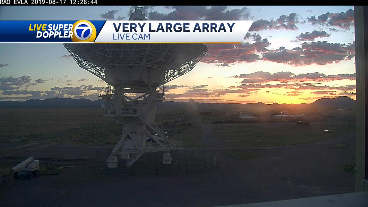 #NewMexico style #sunrise from the @TheNRAO #VeryLargeArray See you on @koat7news #NMwx #SaturdayMorning #SaturdayMotivation