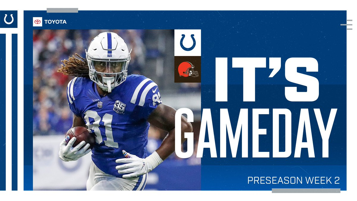 GAMEDAY. 🙌 #CLEvsIND
