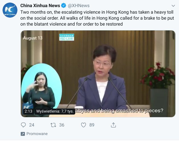 China, Which Bans Twitter and Facebook, Is Running a Covert, Anti-Hong Kong Protest Campaign, the Social Networks Say