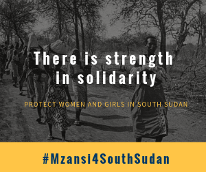 We know the horror of sexual and gender-based violence in South Africa, we know the toll it can take. We stand in solidarity with South Sudanese women. #HerVoiceMyVoice #MzansiForSouthSudan #MyBodyNotYourCrimeScenes @AmandlaMobi @DIRCO_ZA