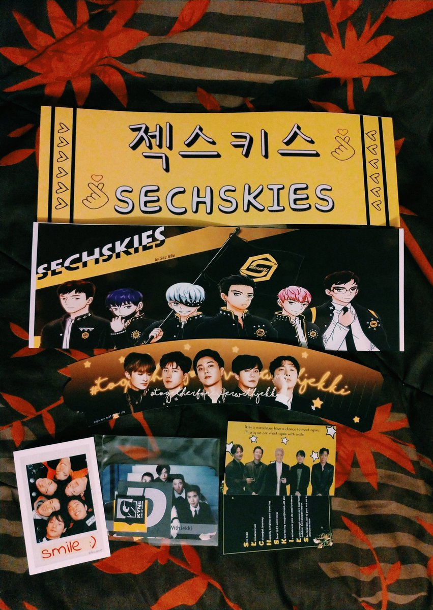 tysm @sya_sya_sya007, @6kies_my, @by_momo305 and @fira_kies94 for the cute freebies from today's event (plus organising it all)! 💛 glad we got to celebrate our wonderful boys together~#sechskiesmalaysia #togetherforeverwithjekki
