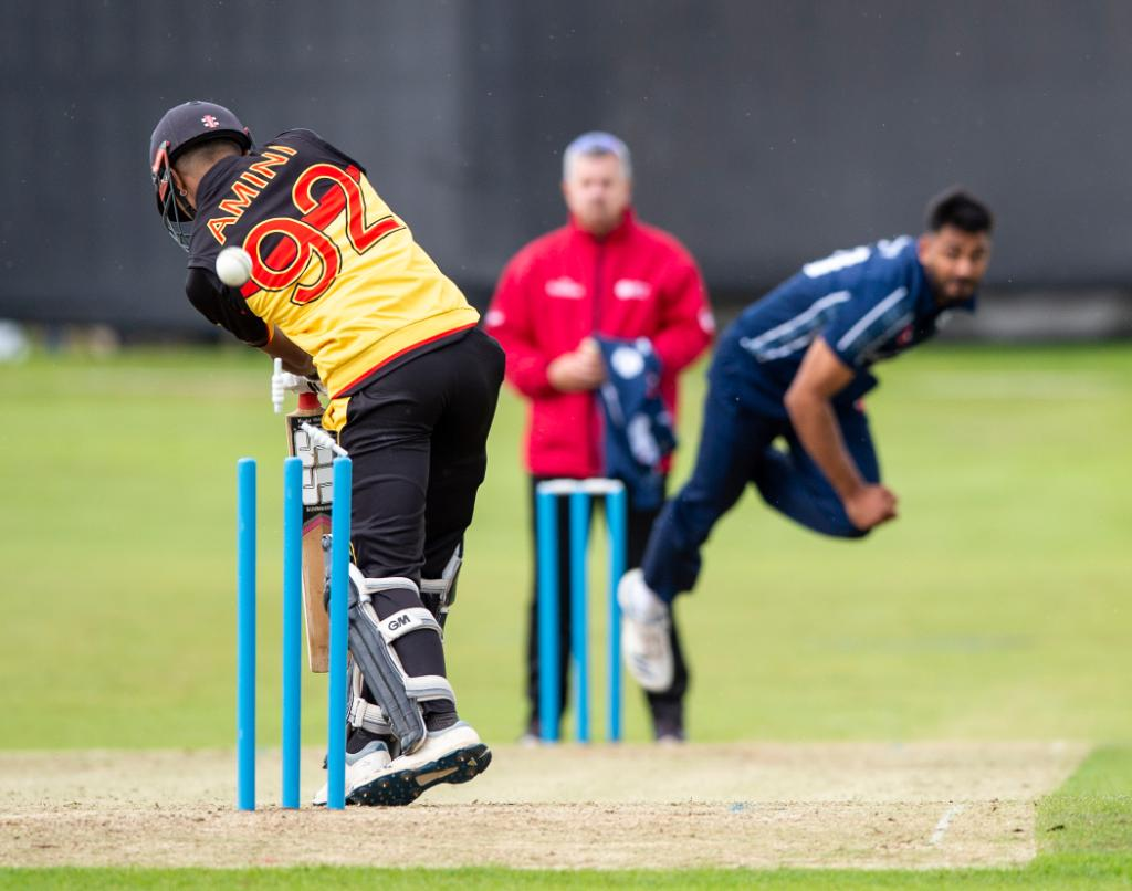 The covers are coming off in the game between Scotland and Papua New Guinea! After 40 overs Papua New Guinea are 156/7. Watch live ➡️ bit.ly/SCOvPNGstream