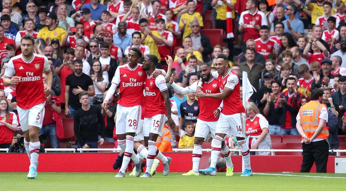 #PL FT: Arsenal 2-1 Burnley ⚽️ Lacazette 13' ⚽️ Barnes 43' ⚽️ Aubameyang 64' #ARSBUR