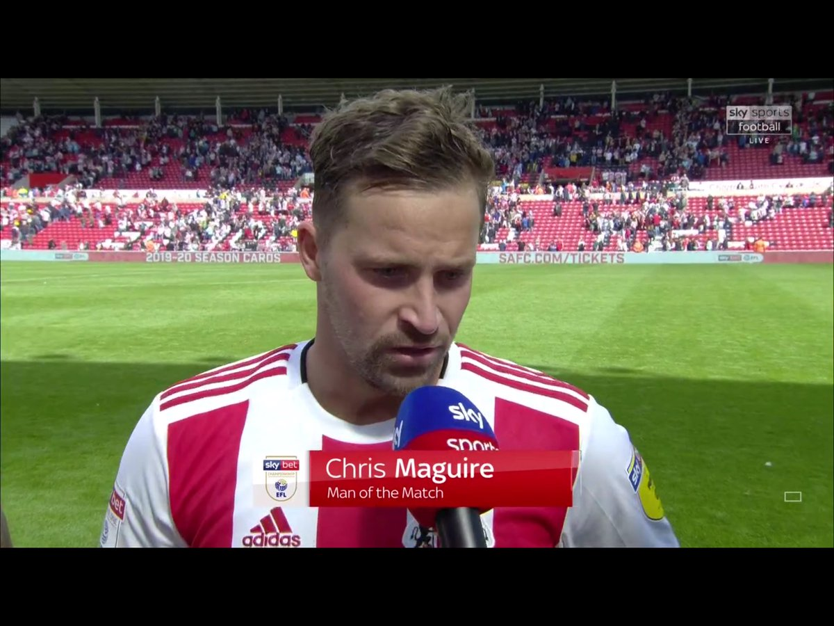 ⭐️ @SunderlandAFC's Chris Maguire was named Man of the Match - his last 2 goals have been the winning goals against former club Portsmouth #SUNPOR