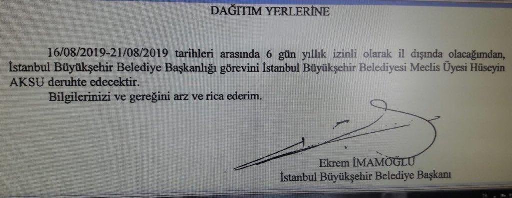 İstanbul'da sel var İmamoğlu nerede mi? İstanbul'da darbe varken Başkanı eve kaçan partiye mi soruyorsunuz bunu? Şaka mı? Elbette en güvenli yerde: Tatilde. Çıkıp gelirse şovunu da yapar, o ayrı ama bu isim özel yetiştirilen bir proje, öyle halka hizmetle işi alakası falan olmaz.