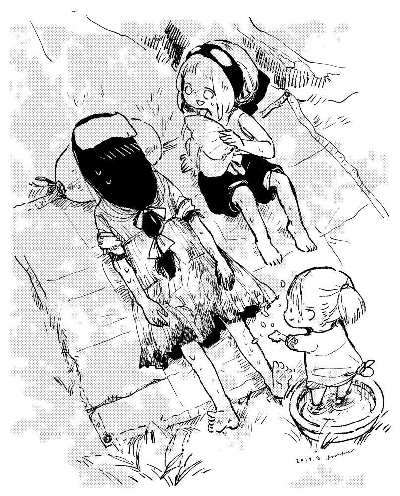 .。oO(今日も暑かったですね…。皆様熱中症に気をつけて…!) 夏こそホラーで涼しく🍧「終末の貞子さん」単行本発売中→ #終末の貞子さん #週末の貞子さん