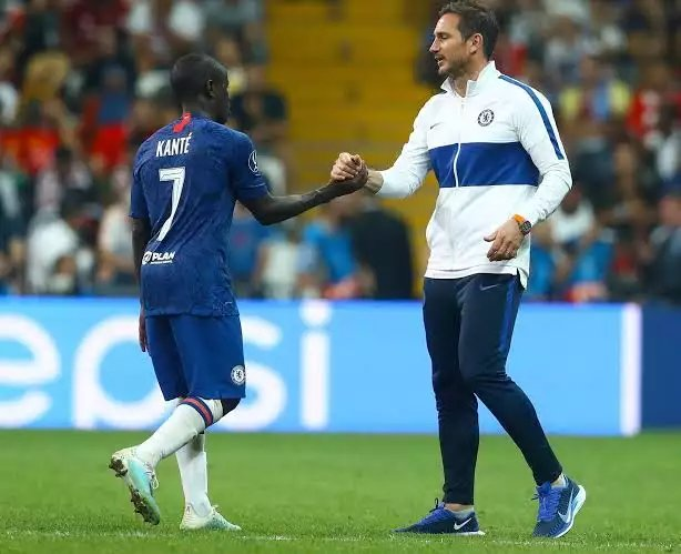 """Lampard: """"The idea Kante wins the ball as well as anyone in world football doesn't mean he has to sit in front of the back 4. He has too much in his game: driving forward, leaving midfield areas and winning the ball back high up the pitch. I'm looking forward to working N'Golo"""""""