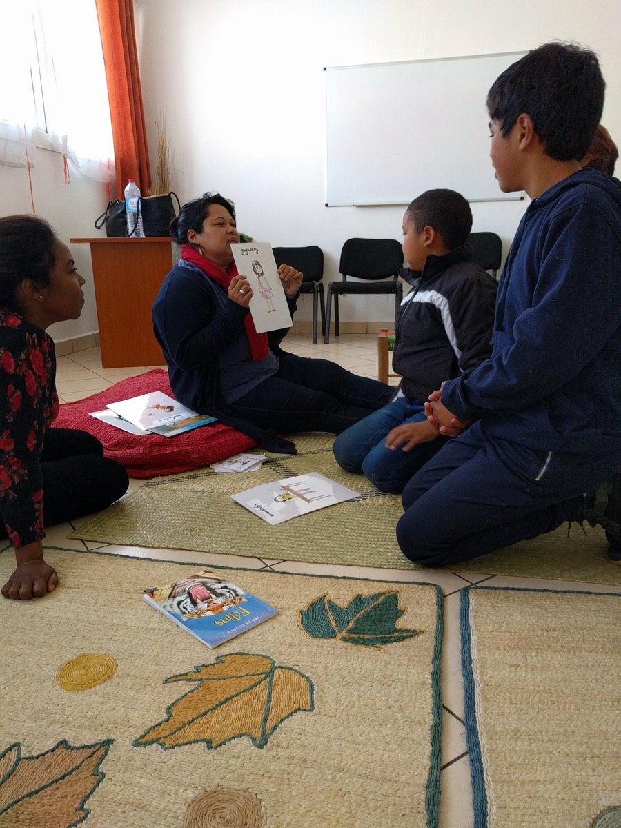 #autism #workshop Stories and tales, reading exercise with ASD children. By Autism Friendly Corner #Madagascar Thank you Ms Michėle Rakotoanosy from Les Éditions Jeunes Malgaches  for your contribution #AFCTeam<br>http://pic.twitter.com/12MlfTYTAe