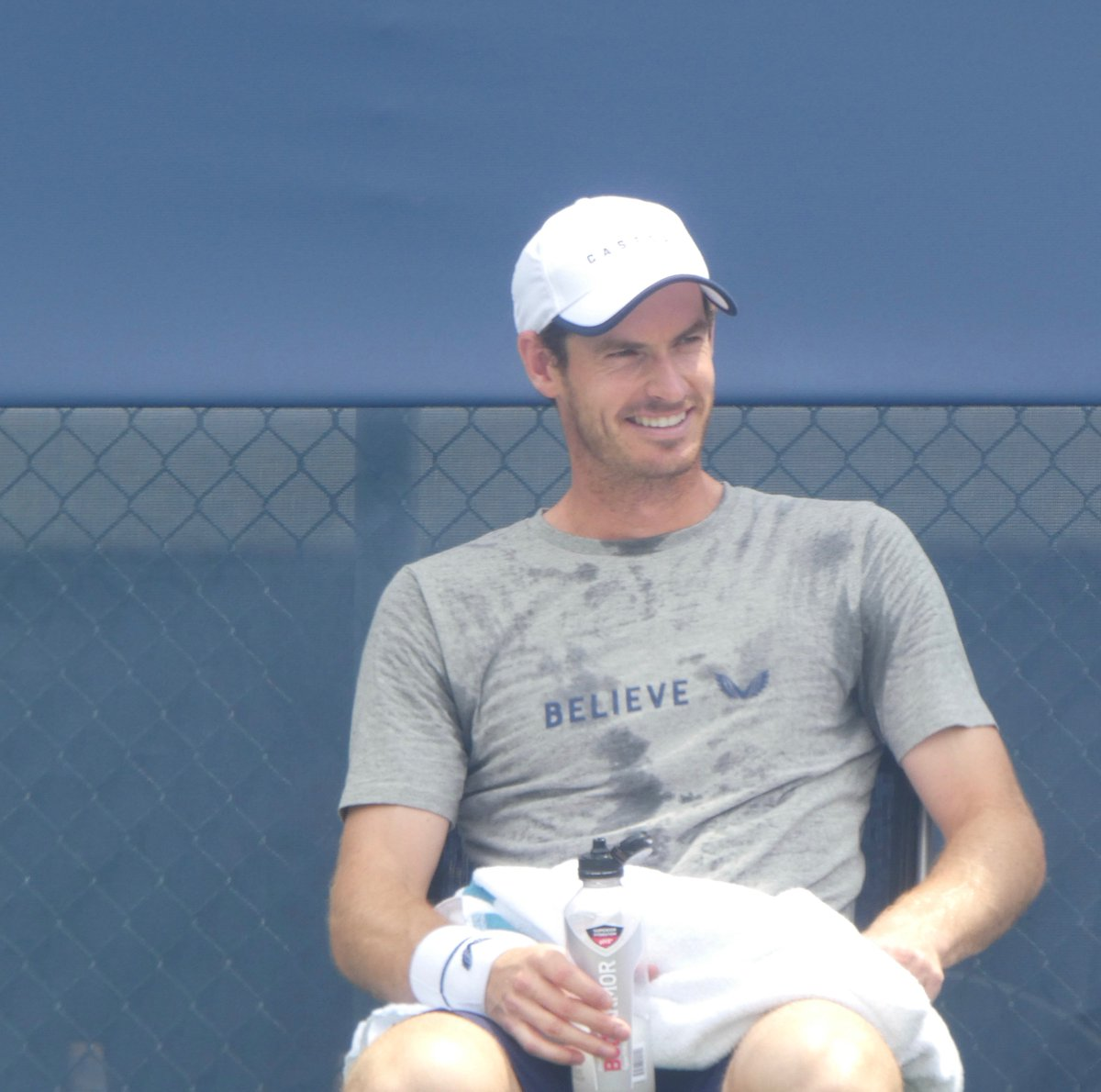 Good morning. Andy Murray is smiling. That's the tweet. #AndyMurray #CincyTennis<br>http://pic.twitter.com/nnbTqWPYtt