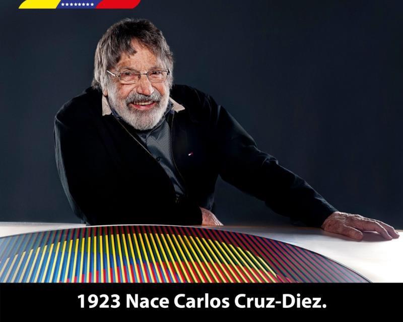 Conmemoramos 96 años del natalicio de nuestro querido caraqueño, Carlos Cruz-Diez. Máximo exponente del arte óptico y cinético que dejó un legado invaluable en la historia del arte mundial. Gracias maestro, por dejar en alto nuestro tricolor nacional. ¡Orgullo Venezolano!