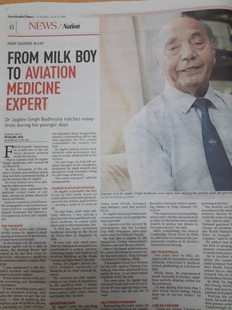 Dr Singh! (Who I interviewed for my masters thesis, which has a focus on late 1960s Malaysian History of everyday life) #twitterstorians <br>http://pic.twitter.com/K4YegjEnhy