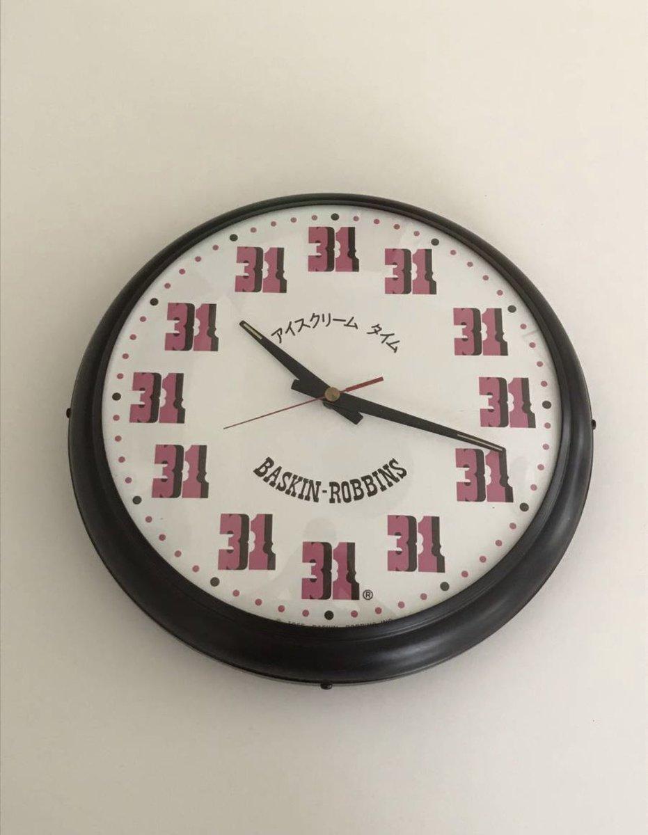 ヤフオクでサーティワンが作った地獄みたいな時計見つけてゲラゲラ笑ってる